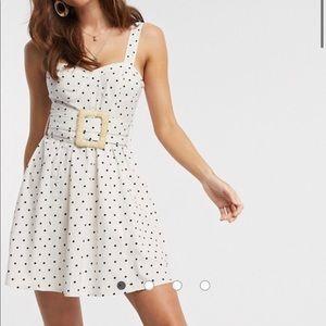 ASOS mini skater dress in polka dot size 6